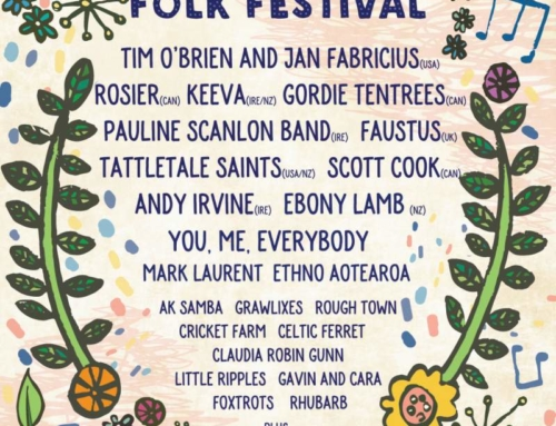Auckland Folk Festival 2020 full line up poster